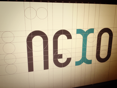 Nexo logo construction nexo construction logo geometric identity