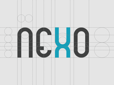 Nexo logo construction construction geometric logo identity nexo