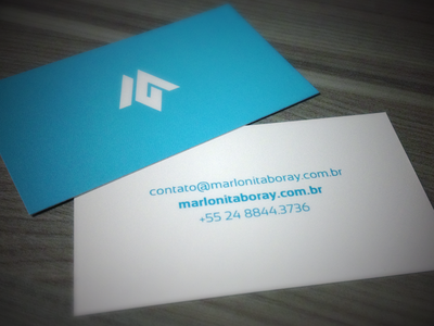 Personal business card business card blue identity simplicity card branding m itaboray marlon