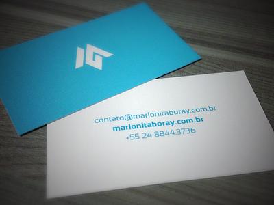 Personal business card business card blue identity simplicity card branding m itaboray marlon