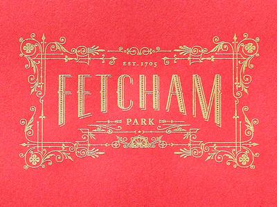 Fetcham Park Sum/fall Border Engraved