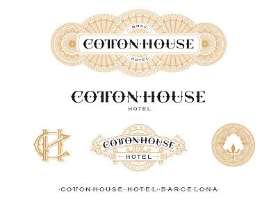 Cottonhouse Hotel Identity branding cottonhouse hotel barcelona kevin cantrell design lettering monogram