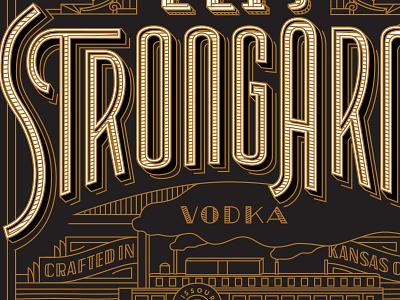 Tom's Town Distilling Co. Label toms town distilling co. distilling lettering vintage identity logo kevincantrelldesign