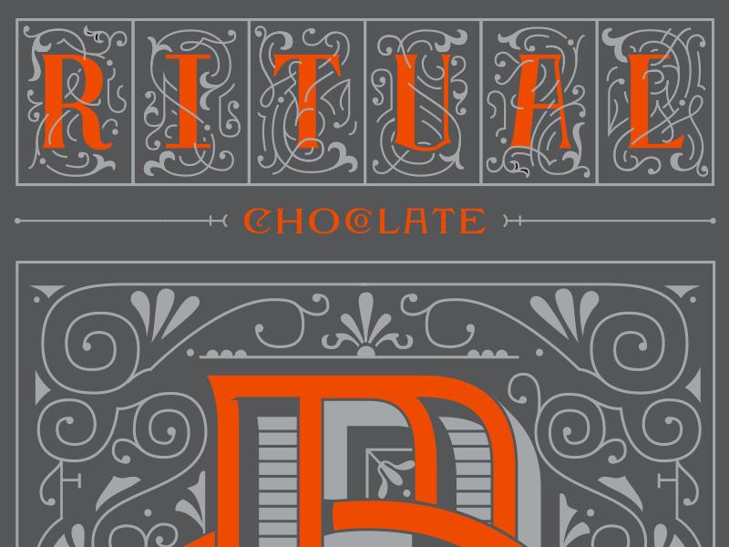 Ritual Chocolate Proposed Rebrand monogram logotype chocolate branding lettering vintage identity logo kevincantrelldesign