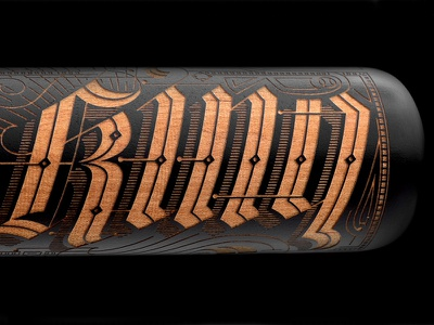Nike Home Run King Bat Trophy battophy laser etching batetching caligraphy lettering nikeperfectgame nikeallamericanclassic kevincantrelldesign