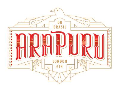 Arapuru Gin Rebrand typography logos lettering