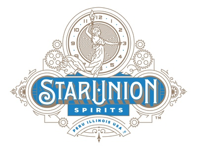Star Union Spirits Logo typography lettering logos