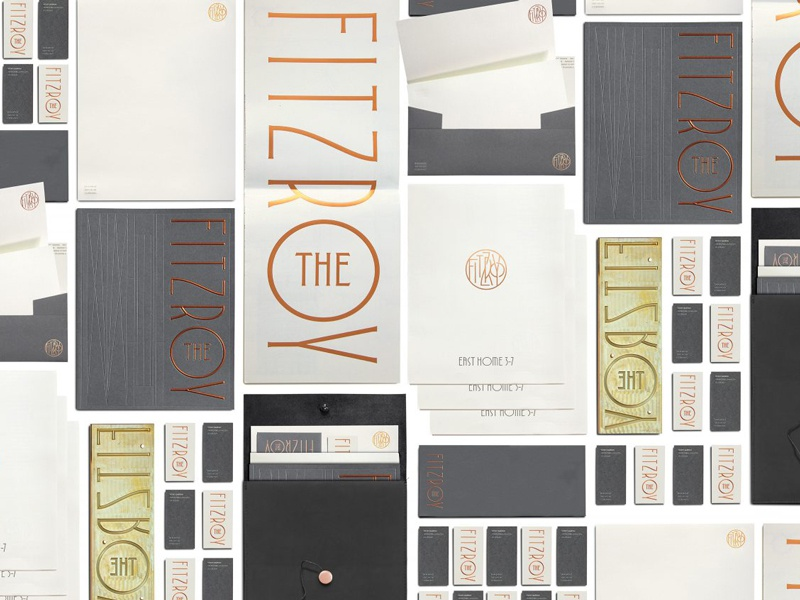 The Fitzroy Branding logodesign identity vector customtype foilstamping type typography lettering branding