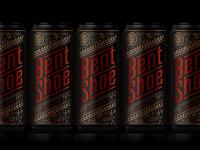 Bent Shoe Brewing Packaging logodesign branding customlettering type spirits packaging typography lettering