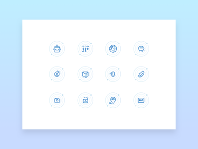 Icon Set app messager calling app ui icons