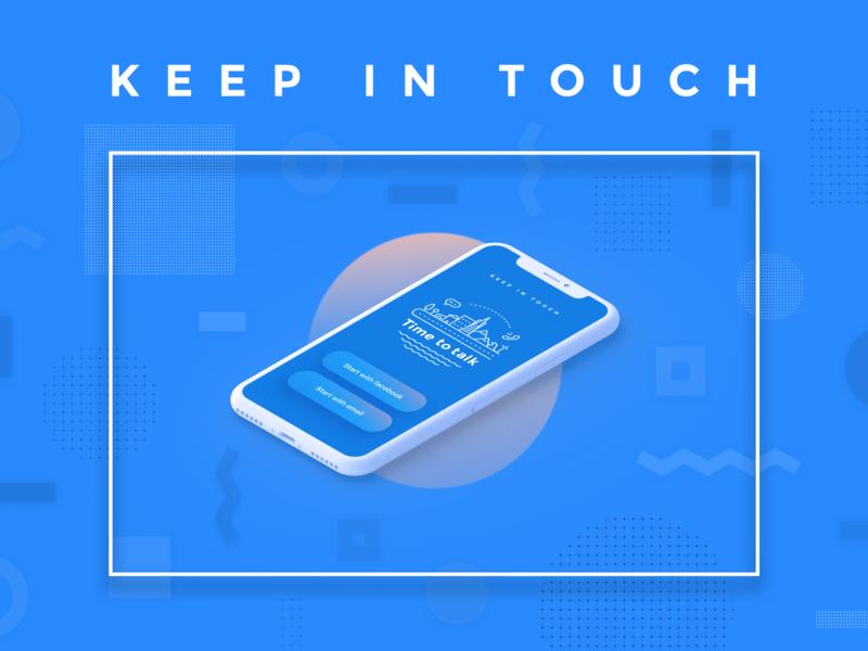 Start screen isometric messager calling app design illustration ux ui
