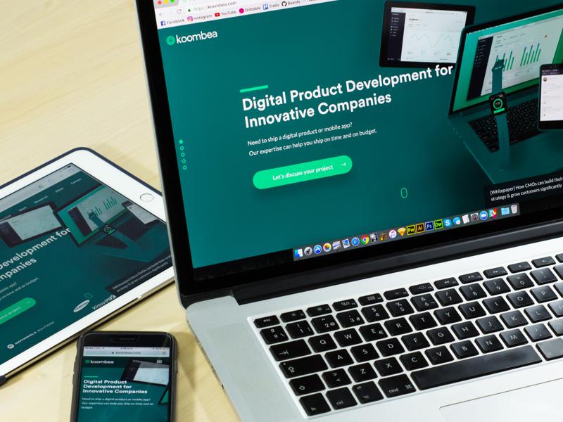 Koombea - New Website Blog Post 🚀 devices design web ux ui lauch home hero website koombea
