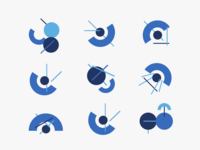 Set of abstract icons