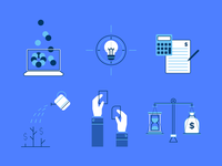 Set of investment related icons