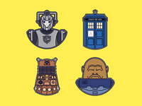 Doctor Who set of icons