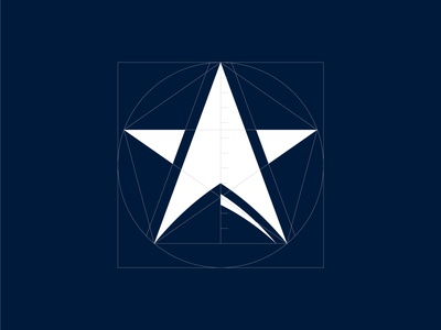 Seastar logo mark construction
