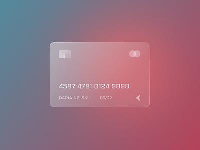 Credit Card flat branding web minimal typography ui design