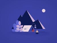Night Tent Scene