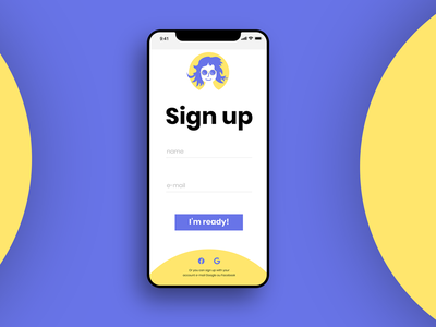 #DailyUI - 001 - Sign up