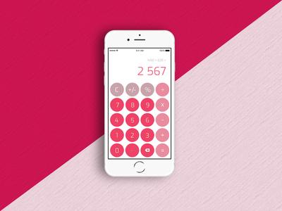 #DailyUI - 004 - Calculator