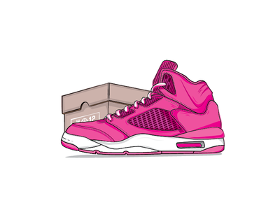Laced up! new first-shot illustration debut dribbble basketball shoe