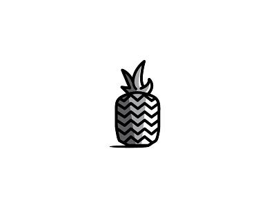 Pineapple illustration fruit icon pineapple