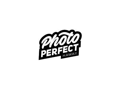 Photo Perfect typography illustration perfect hawaii logo booth photo photobooth