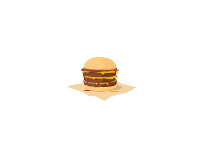 Burger food vector illustration burger