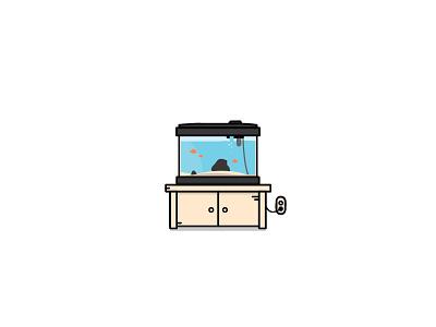 fish tank design graphic vector icon illustration aquarium tank fish