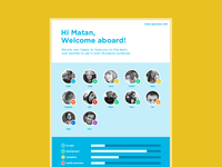Welcome aboard page