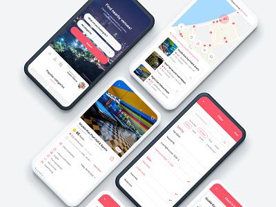 ETA Venues Mobile Application point categories location qrcode services interface ux design app design mobile design search bar booking venue app payment venue ui mobile application