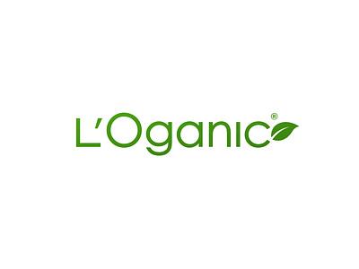 L'Oganic organic product health eco symbol fashion brand flat design simple logo branding design oil spa green leaf bio natural organic logotype vector design logo