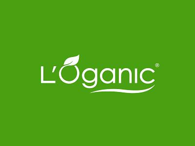 L'Oganic natural simple logo eco organic leaf spa health branding design logo design logotype logo