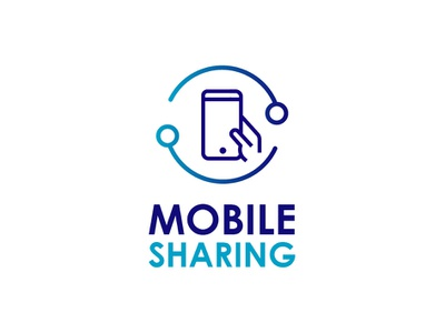 Mobile Sharing devices startup rent mobile mobile service logotypes logodesign connection hand mobilehand business service sharing mobile logo logotype vector design logo