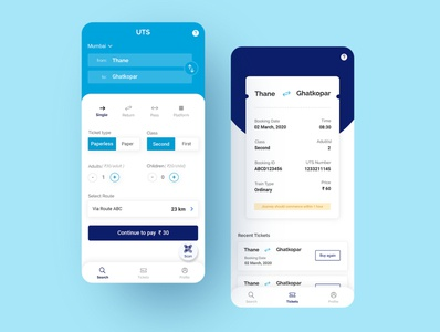 Mobile Ticketing App tickets ticket app ticketing ticket booking casestudy ux ui redesign