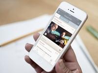 Sosyal Dizi iOS App UI
