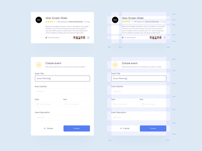 React UI Components ui design clean grids font system field icons progress bar ratings graphic form calendar profile component library uidesign material react ui components