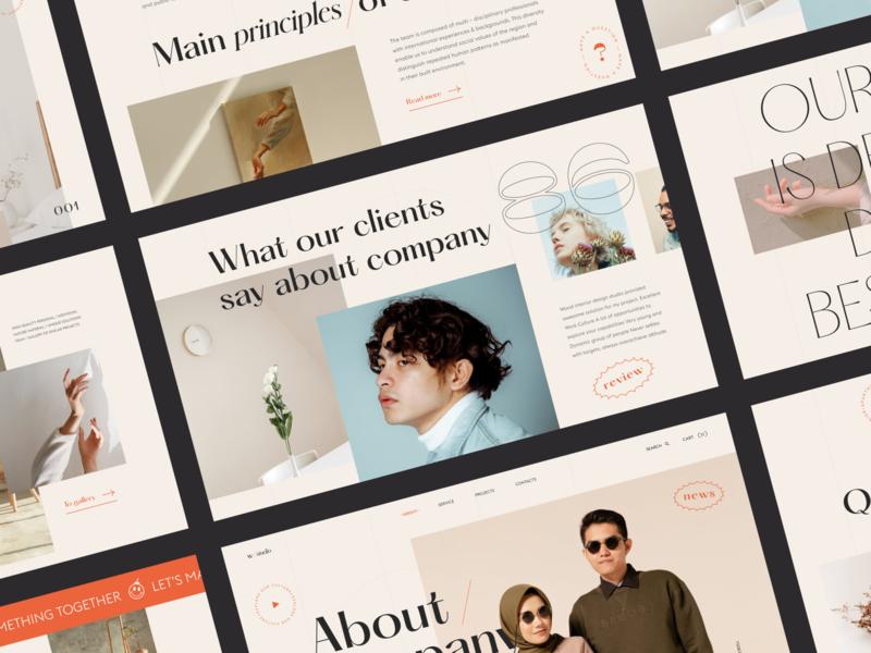 w studio - web clean photo main web typography interface grid ux ui concept