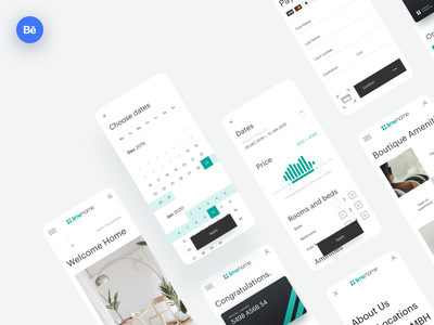 Limehome — Booking Hotel UX/UI Case Study slider main design web calendar card filter behance mobile form booking case study case ux ui