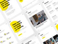 GEO Protocol - Identity & UX/UI Design photo clean yellow illustration icons news video slider interface grid logo identity ux ui