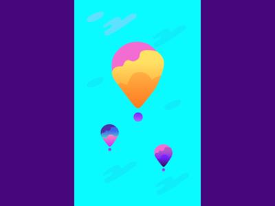 Wallpaper hot air balloon