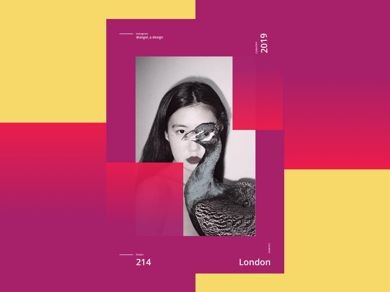 Card 2019 ux girl color dribbble card design branding ui