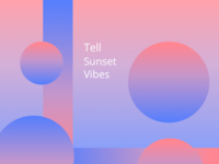 Sunset Vibes card