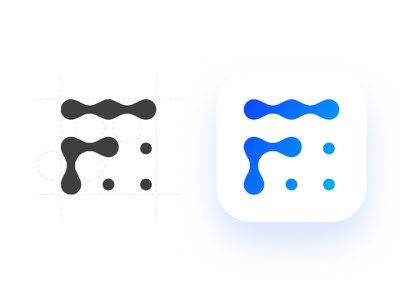 """bubbly """"F"""" logo water logotype mark f bubbles logo"""