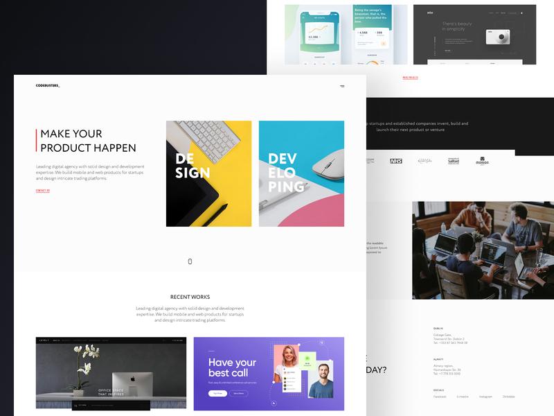 Corporate Website colorful landing page landing agency it minimal website team corporate ux clean ui design