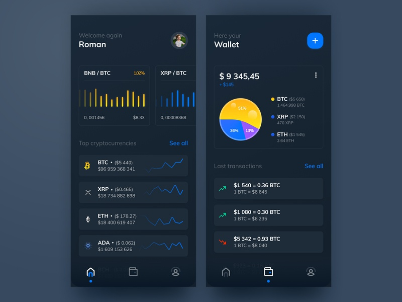 Cryptocurrency design concept agency main chart crypto currency cryto black night vector ux dribbble design creative cool clean ui illustration colorful app