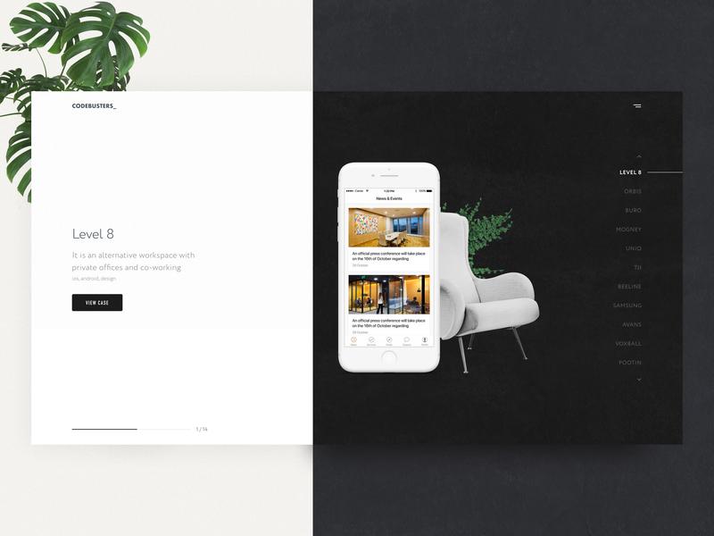 Team Portfolio Page illustration ux typography dribbble design creative ui clean office portfolio team web