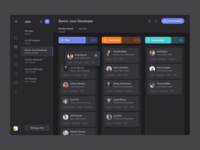 Dark-mode Kanban for Job Manager
