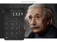 Einstein calculator #dailyui #004