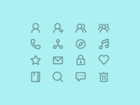 Some Rounded Line Icons